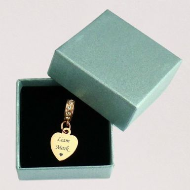 Small Memorial Heart Charm with Personalised Engraving | Someone Remembered